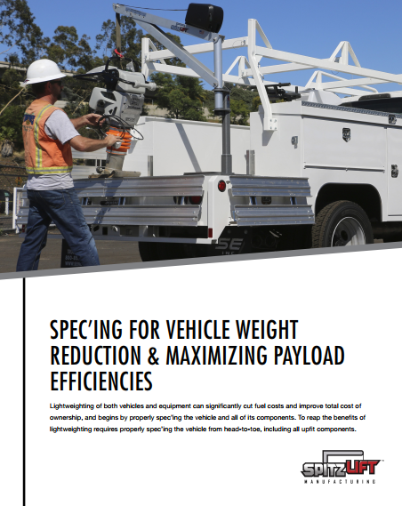 Spec'ing For Vehicle Weight Reduction & Maximzing Payload Efficiencies