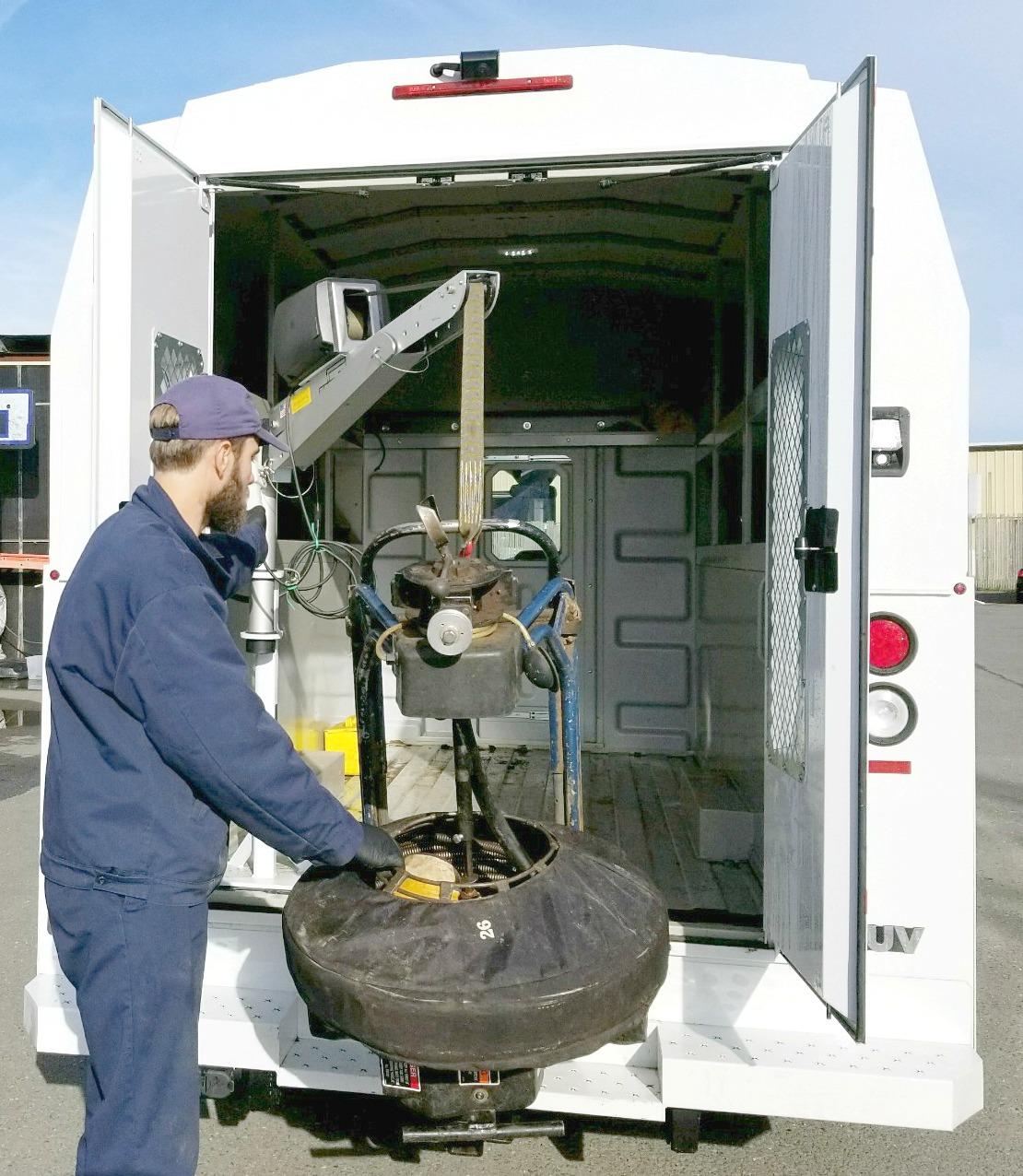 Enclosed Service Bodies Spitzlift Portable Crane Wiring Harness