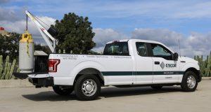 Emcor Truck with Spitzlift Crane listing compressor