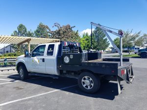 Flatbed Platform Truck Crane